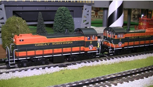 Chicagoland Lionel Railroad Club Lionel Ambassador Club review of the Lionel Great Northern LEGACY S2 Diesel Switcher 6-82120  6-82121