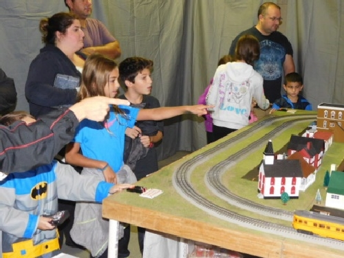 The Nassau Lionel Operating Engineers Lionel Club Ambassador had excitement around the layout at the October 2016 Open House