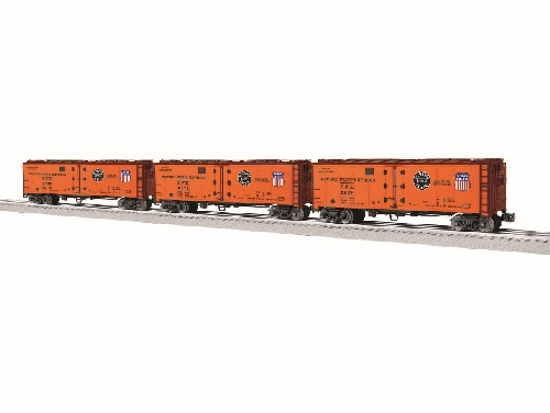 The NLOE Lionel Club Ambassadors show additional versions of the reefer reviewed the PFE Vision Reefers 3-Pack 6-83545