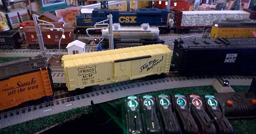 Image of the Frisco Boxcar 700117 6-81013 from Toy Train Operating Society  Southern Pacific Division Club Ambassadors to Lionel Product Review Video