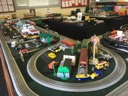 The magical world of model trains is displayed on the Toy Train Operating Society Southern Pacific Division Lionel Club Ambassador layout at the St Adelaide Church Festival