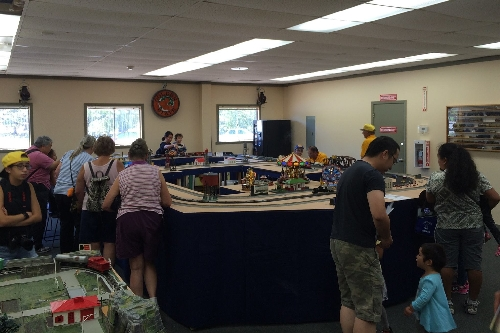 Family fun at the Golden State Model Railroad Museum in Richmond CA on July 23-24 and July 30-31 with the modular layout set up by the GGAF Club CLUB AMBASSADORS TO LIONEL