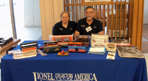 The LCCA table greeted LCCA members at the 22nd annual Wichita Train show was on Sept 24th  25th run by the Lionel Club Ambassador Lionel Club Ambassador Wichita Toy Train Club  Museum