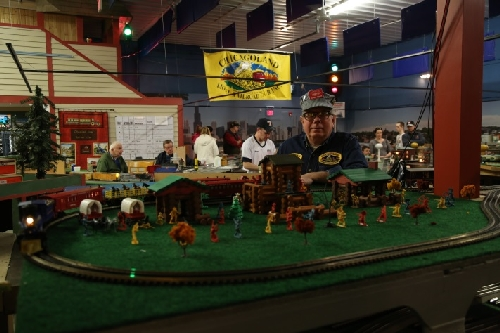 Lincoln Logs Diorama at the Club Ambassador to Lionel Trains CLRC Open House March 2016