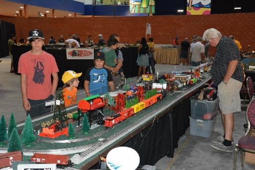 Kids visit aAt TTOS National Train Show at the Queen Mary in Long Beach CA August 5  6 2016 Lionel AmbassadorTTOS  Pacific Division shows off their layout