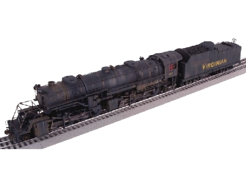 The TMB Model Train Club Lionel Club Ambassador catalog photo of Lionels Weathered Virginian LEGACY USRA 2-8-8-2 Y-3 Steam Locomotive 6-82486 in their product review