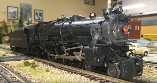 Image of Pennsylvania LEGACY Scale 4-6-2 K-4 1361 6-11264 on the model train layout at Wichita Toy Train Club Lionel Ambassador Club for their prodcut review video